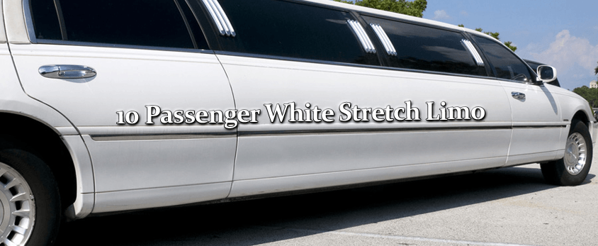 10 Passenger White Stretch Limo