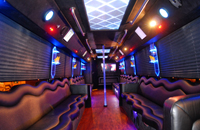 Book a Party Bus Limo with a Stripper Pole for a Bachelor Party
