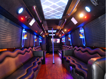 Stripper Pole Party Bus Limo Rentals